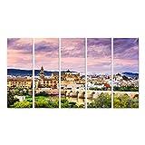 Bild Bilder auf Leinwand die römische Brücke und die