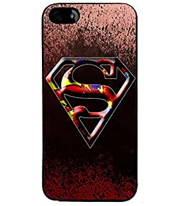 Fuson Superman Back Case Cover for APPLE IPHONE 5 - D3676