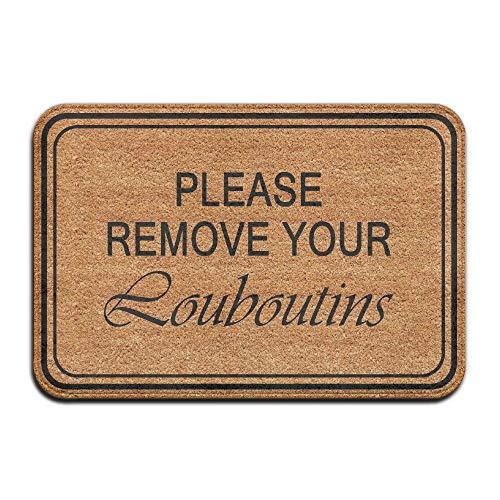 vintage cap Please Remove Your Louboutins Cool 15.7 X 23.6 in Absorbent Non Slip Floor Rug Door Mat Louboutin Cap