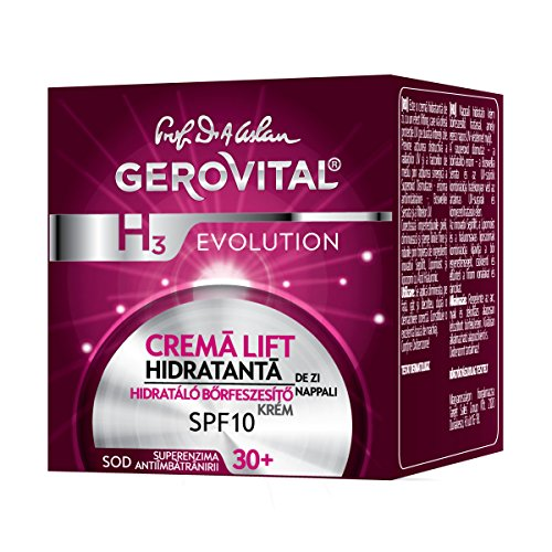 GEROVITAL H3 EVOLUTION, Moisturizing Lifting Cream With Superoxide Dismutase (The Anti-Aging Super Enzyme) Day Care 30+