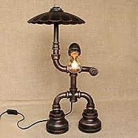 Hines Loft E27 Vintage Industrial Metal Edison Lámparas de Mesa Base de Hierro Forjado Steampunk Antiguo