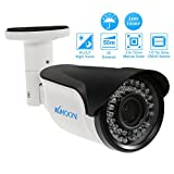 KKmoon Telecamera Bullet 1080P AHD CCTV Telecamere Analogiche 2,8~12mm Manuale Zoom Varifocale Lente 1/3 Pollici per Sony CMOS 2,0MP 42 IR LEDs Visione Notturna Impermeabile Telecamera di Sicurezza