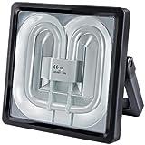 Brennenstuhl Power Jet-Light/Strahler ideal als Bauleuchte für außen und innen (heller Scheinwerfer IP54 geprüft, 1,8m Kabel, 55 Watt) Farbe: schwarz