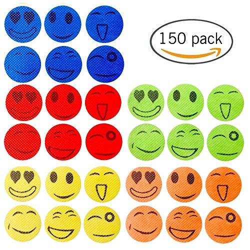 Joloy 150 Smiling Face Mosquito Repellent Stickers Anti Mosquito Patches of Citronella Essential OilsAufkleberfür Kinder Erwachsene hält Insekten und Insekten fern für Zuhause, Camping