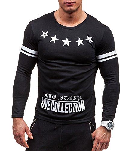 BOLF - Sweat-shirt - Maglione de sport �?con la stampa �?GLO STORY 9265 - Uomo Nero