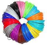 #1: Imagery3D (20 In 1) 20 Colors, 5M Each Total 100M, 4 X Glow In The Dark, 1.75mm PLA Filaments 3D Pen Printing Material