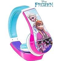 Tavitoys-3027SK Auriculares Frozen Ajustables Y LIMITADOR DE Volumen, Color Azul (Sakar 30327)