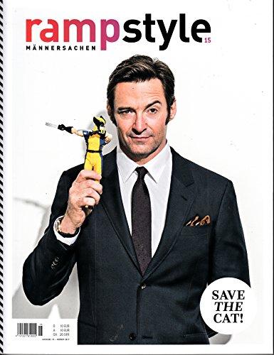 Ramp Style #15 2017 Hugh Jackman Männersachsen Zeitschrift Magazin Einzelheft Heft