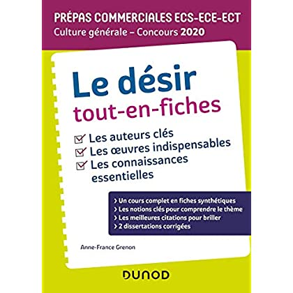 Le désir Tout-en-fiches - Prépas commerciales ECS-ECE-ECT - Culture générale - Concours 2020