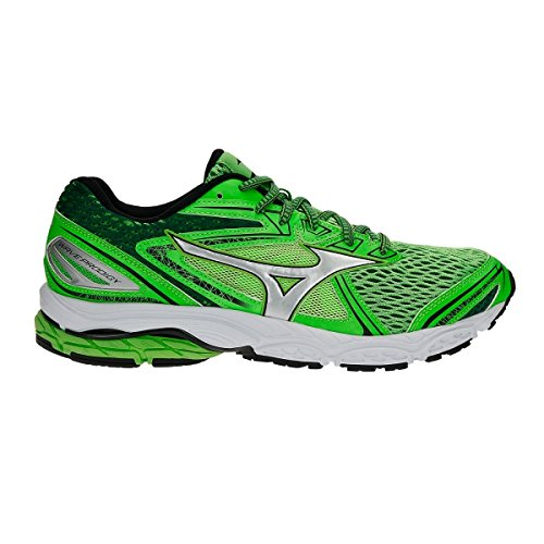 Mizuno Scarpe Running Uomo - Wave Prodigy - J1GC1710-04 - GreenSlime/Silver/EverGreen-40