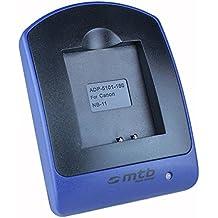 Caricabatteria USB (senza cavo/adattatori) per Canon NB-11L / Ixus 125 HS, 240 HS, 265 HS.. Powershot A3500 IS, SX400 IS .. v. lista