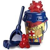 Futbol Club Barcelona - Futbol Club Barcelona - Set cubo castillo de 18 cm con pala (Mondo MD-311017) (Mondo 311017)