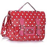 Designer High Quality Polka Dot Faux Leather Work Briefcase Satchel Bag High Quality Boys School Bags Satchel Girls Oilcloth Kids Shoulder Cross Body Casual Messenger Bag