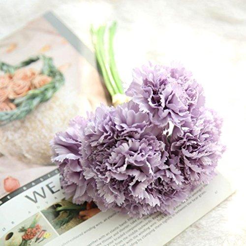 Mitlfuny Unechte Blumen, Künstliche gefälschte Blumen Nelken Floral Hochzeit Bouquet Braut Hortensie Dekor Haus Garten Party Blumenschmuck