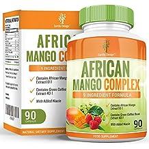 Complejo Mango Africano y Frambuesa, Supresor del Apetito de Alta Concentración para Adelgazar. Quema Grasa y Acelera el Metabolismo para Hombres y Mujeres. Grano de Café Verde para Quemar Grasa Rápido, 90 cáps