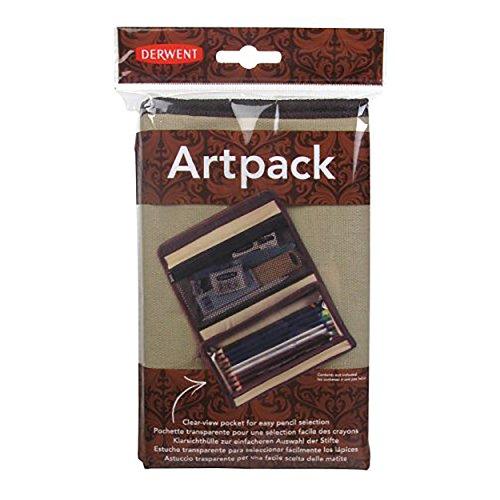 Derwent Artpack lienzo caja de lápiz, lápiz y del accesorio de almacenamiento compartimientos