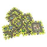Trimming Shop Aktivitäts-Spielmatte, ungiftig, groß und dick, Baby Lernteppich mit Straßenstädtchenkarte mit Tragetasche für Kinder, Toodler, Baby Design-2