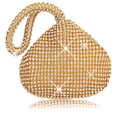 ELEGENCE-Z Clutch Handtasche, edle und luxuriöse herzförmige Abendtasche, Diamant-Tasche,...