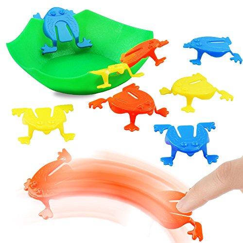 1 x Lustiges Froschhüpfspiel ┃ Neu ┃ Frosch Spiel ┃ Kindergeburtstag ┃ Mitgebsel ┃ Hüpfspiel ┃1 Stück ()