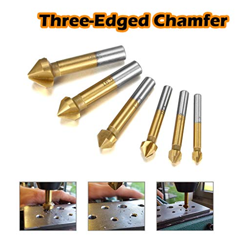 1 Satz 6-teiliger,abgeschrägter 90 ° -Legierungsfräser mit zylindrischem Schaft,der für Holz,Kunststoff,Weichmetall, Faserplatten,Spanplatten,Sperrholz,andere Bohrer mit höherer Präzision geeignet