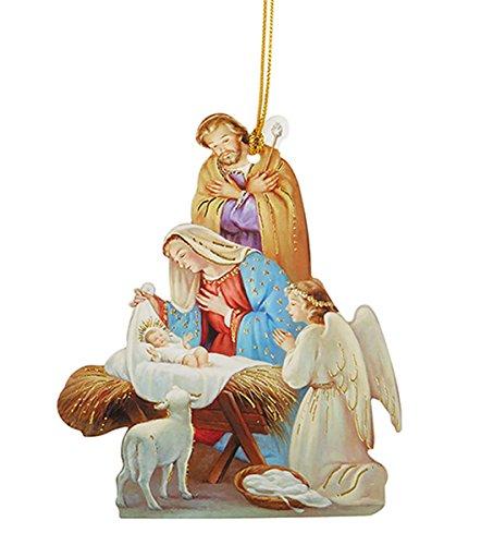 t Karton Krippe Ornament mit Bibel Vers, 50Stück, Papier, Praying Angel ()