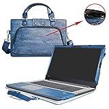 IDEAPAD 320 17 Housse,2 en 1 spécialement conçu Etui de protection en cuir PU + sac portable Sacoche pour 17.3' Lenovo IDEAPAD 320 17 320-17ast 320-17ikb 320-17isk ordinateur(NON compatible avec IDEAPAD 320 15 inch),Bleu