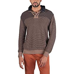 Provogue Mens Cotton Sweater (8903522446924_103603-EA-28_X-Large_Brown)