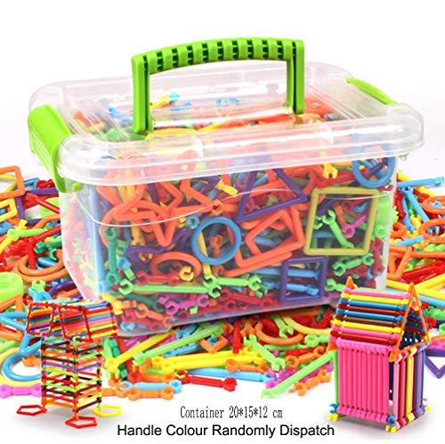 JIAHFR 300 Pièces Bloc Bâton de Construction Magique DIY Jeu de Construction Mosaïque Puzzle Jouet Blocs Créatif pour Enfant Age 3+ Cadeau Noël Anniversaire Apprendre Forme Imagination