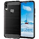 ImoreTEC Funda Xiaomi Redmi Note 7/7 Pro Negro de Silicona Dura, Carcasa Protectora Resistente, Antigolpes y Antirayaduras con Acabado en Fibra de Carbono