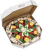 Rainbow Socks - Pizza Vegetariana Donna Uomo - 4 paia di Calze - Taglia EU 36-40