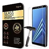 Film Protecteur d'écran VITRE en VERRE TREMPE pour Samsung Galaxy A8 (2018) (5.6' Pouces) Ultra Transparent Ultra Résistant INRAYABLE INVISIBLE (2 exemplaires) - A8 (2018) Recouvre les bords incurvés