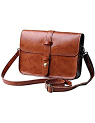 Toraway Estilo de la manera de la vendimia del monedero del bolso de cuero Crossbody bolso Messenger