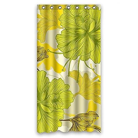 Breite x Höhe/91,4x 182,9cm/W H 90von 180cm Blume, Bath Polyester-Vorhänge-Ornament und Geschenk zu Familie Artwork Kids Lover Teens. Home (Jungle Orangutan)