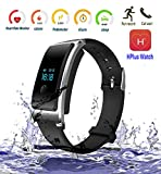 Dax-Hub D10 Orologio Bluetooth Smart For IOS (7.0 sopra) e Android (4.3 sopra) Smart Phone con cardiofrequenzimetro, contapassi, Monitoraggio a distanza; PhoneCall & messaggio di promemoria; Supporto GSM / GPRS 850/900 da polso intelligente orologio (Argenta)