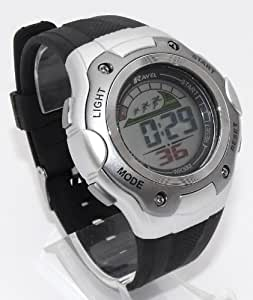 Mens Digital LCD Chronograph Sports Watch - Gift Boxed - Multi Functional- 15-22cm Strap - 3ATM (f)