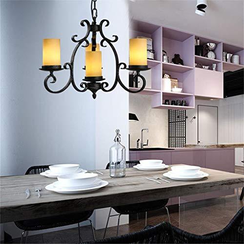 QSD Umweltlüster, American Country Retro Eisen Kerzenständer Lange Cafe Bar Restaurant Leuchter Effizienz: A +++ American Leuchter