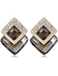 Shining Diva Fashion 18K Gold Plated Crystal Stud Earrings For Women & Girls