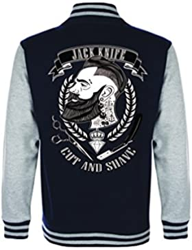 shirts&nerds® Jack Knife College Jacke Retro Style Rockabilly Oldschool Barbershop