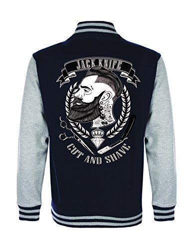 shirts&nerds® Jack Knife College Jacke Retro Style Rockabilly Oldschool Barbershop