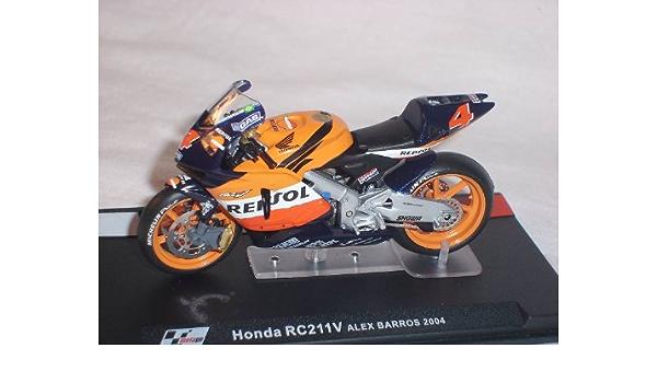 Honda Rc211 V Rc 211 V Alex Barros 2004 Motogp 1 24 Altaya By Ixo Model Motorbike Model Motorcycle Special Offer Spielzeug