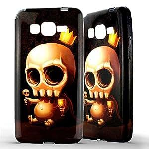 1001 Coques - Coque silicone Samsung Galaxy Grand Prime / VE Tête de mort Baby