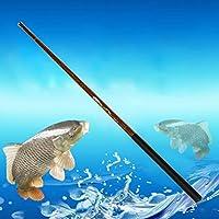 Telescopic Fishing Rods - Carbon Fiber Ultralight Hard Stream Hand Pole - Total Length 3.6 M/ 4.5 M/ 5.4 M/ 7.2 M for Choose(3.6 M,黄色,3.6,)