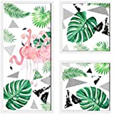 Painting Mantra Flamingo Painting for Wall Decoration Set of 3 Wall Paintings (1 Unit 22 X 47 cm, 2 Units 22 X 22 cm…
