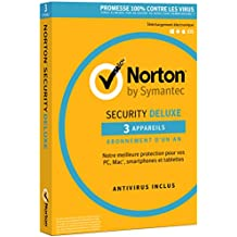 Norton Security Deluxe 2018 | 3 Appareils | 1 an | PC/Mac/iOS/Android | Téléchargement