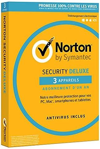 Norton Security 2016Deluxe (3Geräte/1Jahr)–Dose enthält die Lizenz zum aktivieren die Abonnement einem Jahr–nicht CD-Lieferumfang