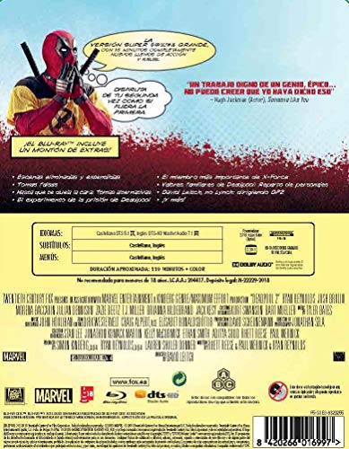 Deadpool 2 Blu-Ray Steelb