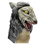 Latexmaske Geisterfest Nachtkarneval Rote Augen und Hungriger Wolf. Maske