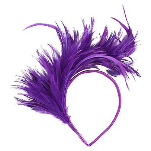 n Kopfband Flapper Straußenfeder Phantasie Headwear Vintage bunte Burlesque Headpiece Haarschmuck Tiara ()