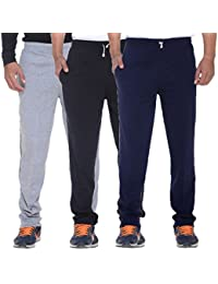 ELK Mens's Cotton Track Pant Trouser With Side Pockets Clothing 3 Color Set Combo