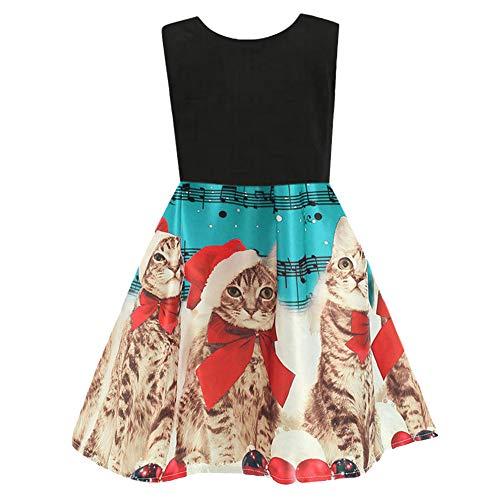 (Likecrazy Weihnachten Kleider Kinder Mädchen Schneeflocke Drucken Princess Dress Tutu Festlich Kleider Mode Babybekleidung Weihnachten Kostüme für Baby (Light blue3,140))